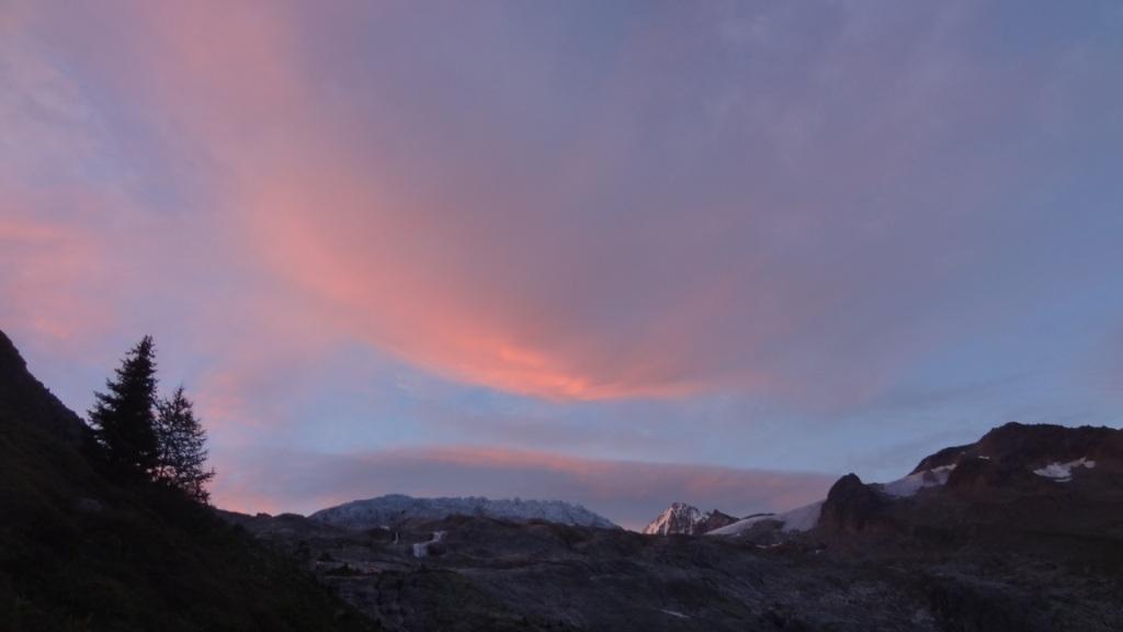 levee soleil glacier du tour